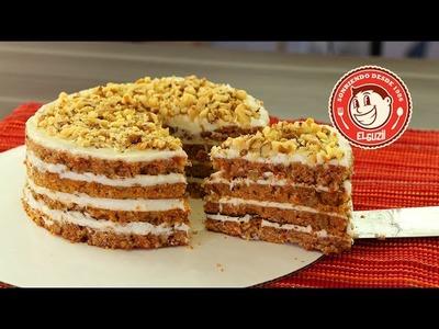 Pastel de Zanahoria sin Horno (Fácil) - Cómo hacer un pastel sin horno - El Guzii