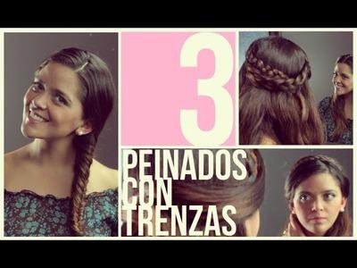 Peinados fáciles y rápidos con Trenzas para pelo corto.largo (Short Hair Hairstyles)Trenzas
