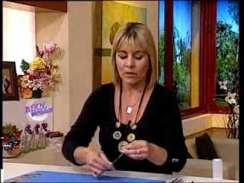 Silvina Buquete  - Bienvenidas TV - Realiza un Collar en Cestería.