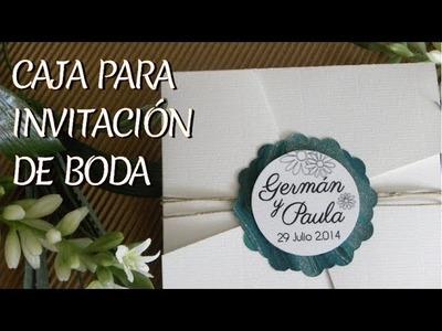 SOBRE - CAJA PARA INVITACIÓN DE BODA