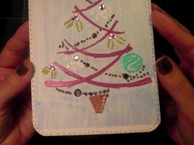Tarjeta navideña con doble embossing (Décimo de Navidad. Episodio 4)
