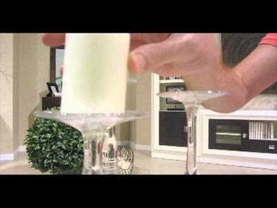 Tip de decoración: un centro de mesa con copas