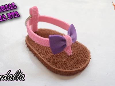 ♥ Tutorial: Sandalia o chancla de Goma Eva (Foamy) ♥