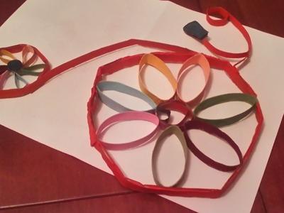 Adorno de pared (bicicleta) con materiales reciclables ♥
