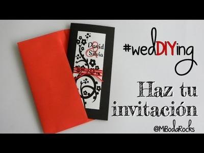 BODA: Invitación De Boda Roja y Negra