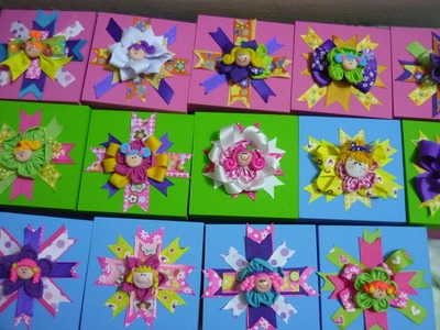 Cajas de madera  decoradas con cintas y flores de tela para regalos   video No.88