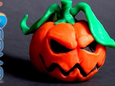 Calabaza de plastilina para Halloween