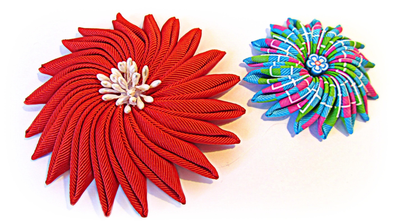 Como hacer flores de cinta. Ribbon flowers