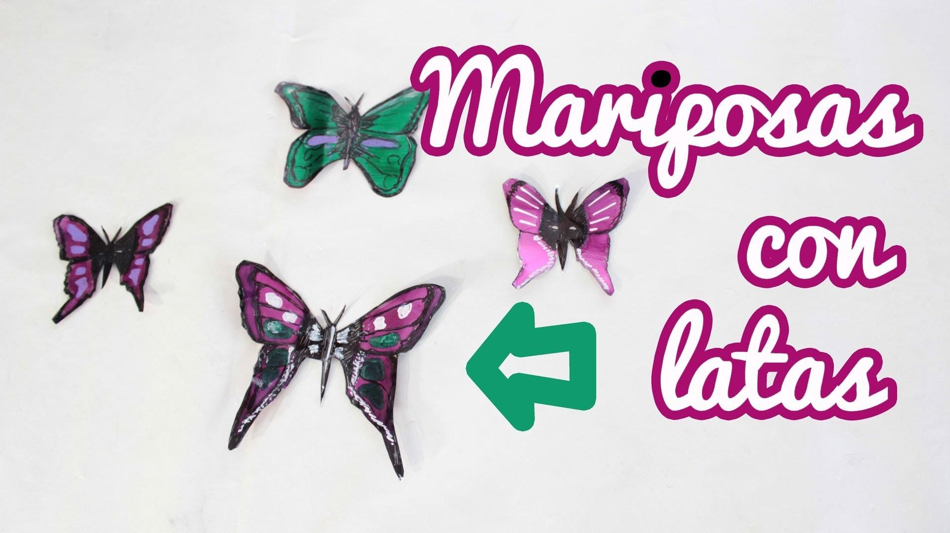 Cómo hacer mariposas con latas, Manualidades Fáciles