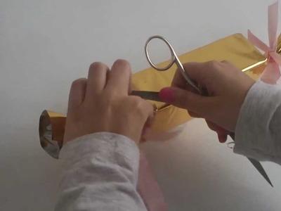 Cómo hacer un envoltorio en forma de caramelo  | facilisimo.com