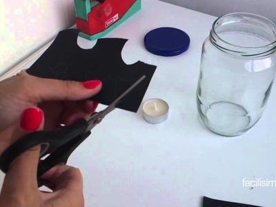 Cómo hacer un portavelas para Halloween | facilisimo.com