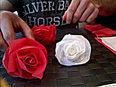 Cómo hacer una rosa de papel , muy facil