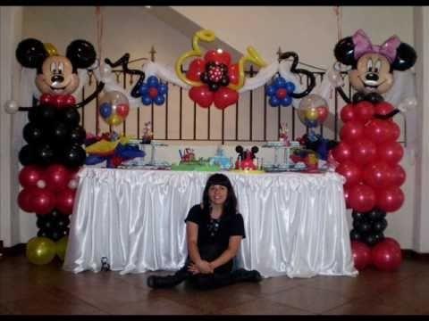 Cumpleaños Mickey Mouse - Sentido Violeta Globos