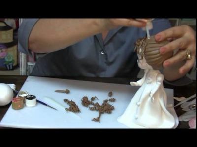 Curso de Modelado en pasta flexible de novios para Pastel  Parte 2 HD