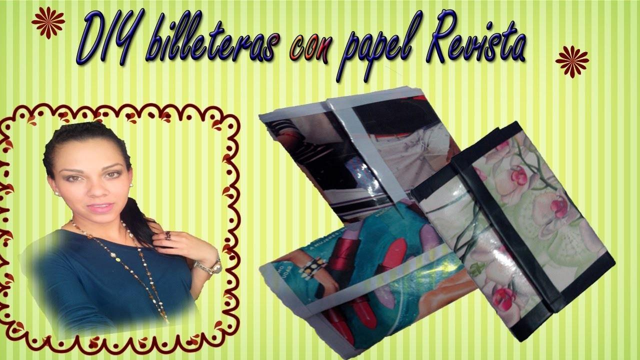 DIY billeteras con papel de Revistas!!