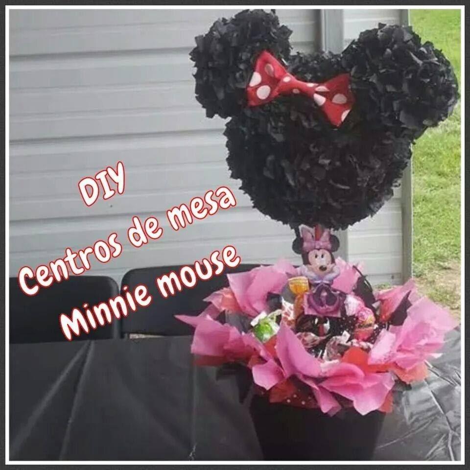 (DIY) Centros de mesa Minnie mouse