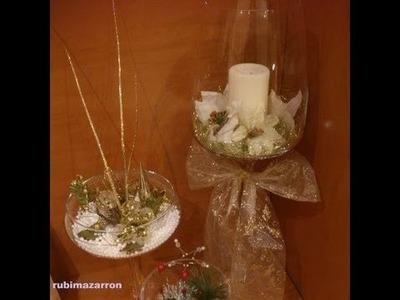 DIY: Decoración de navidad en copas .
