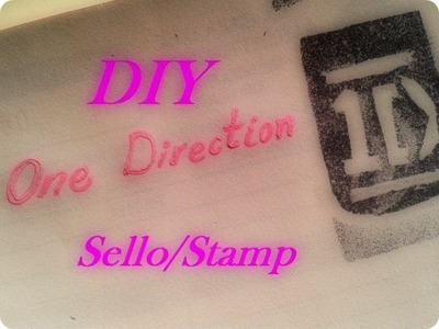 DIY One Direction Stamp \como hacer un sello One Direction
