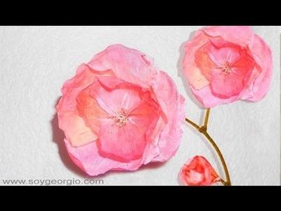 Flores de Papel  APARIENCIA REAL Manualidades