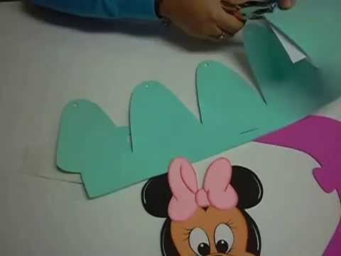 Gorro Minnie Mouse en Foami, Goma Eva, Microporoso (3ra Parte)