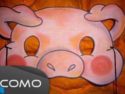 Hacer máscara infantil de cerdo