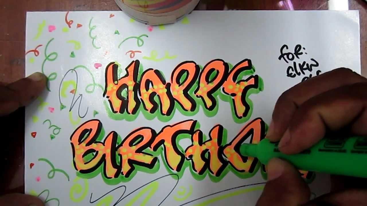 Happy Birthday - letra timoteo caligrafia parte 2