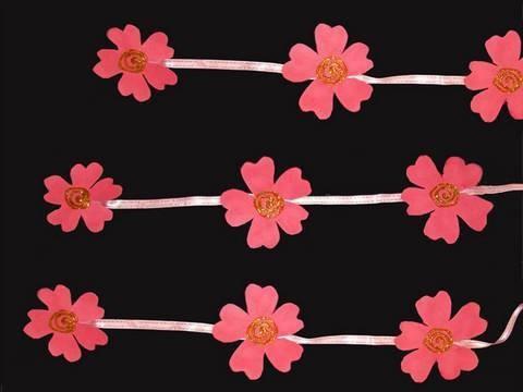 Manualidades de Goma eva: Cortina de flores