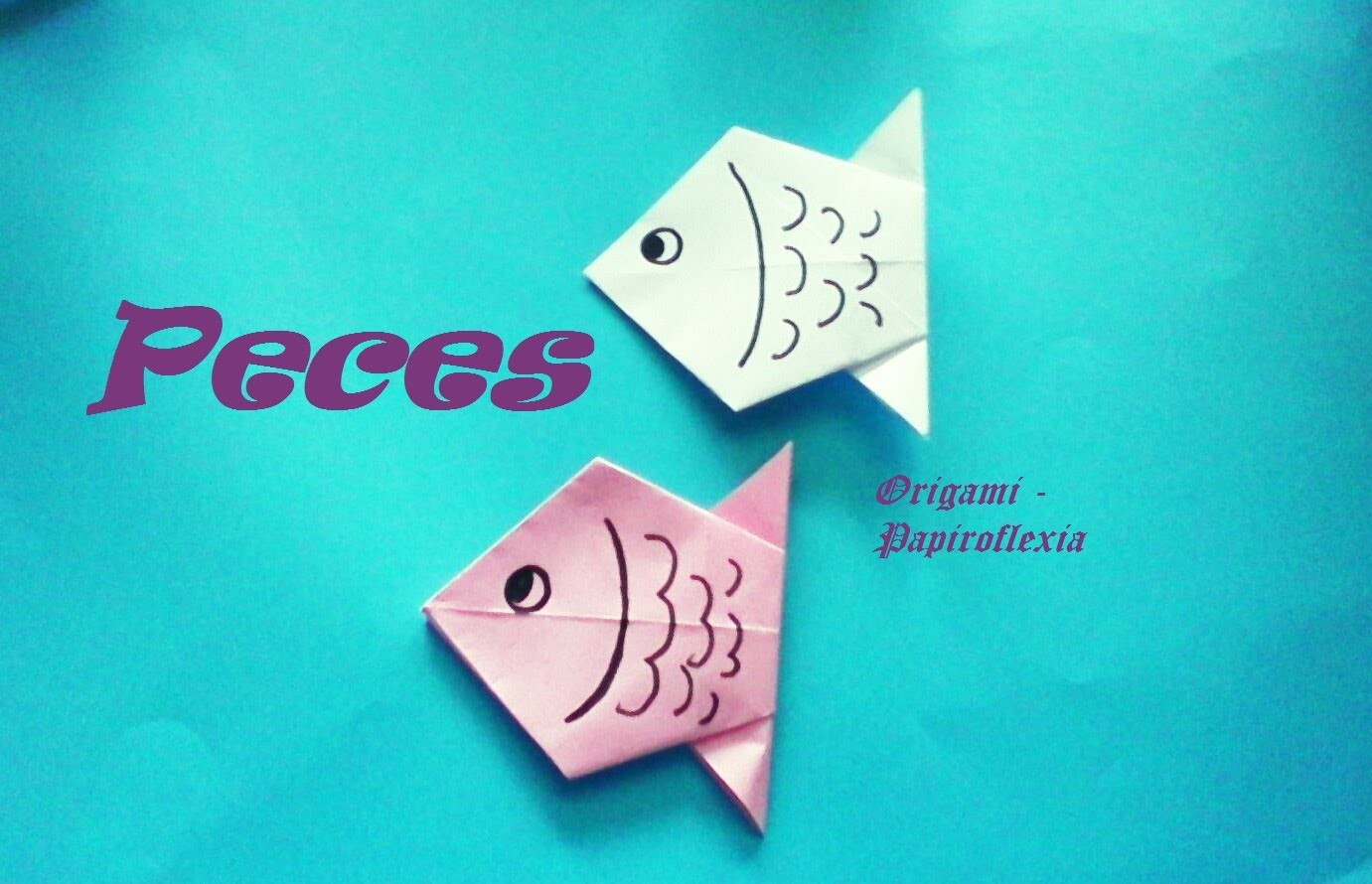 Origami - Papiroflexia. Pez de papel muy fácil