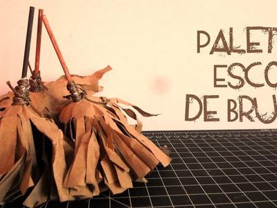 Paletas Escoba de Bruja || Entre Calabazas y Catrinas || (Halloween)