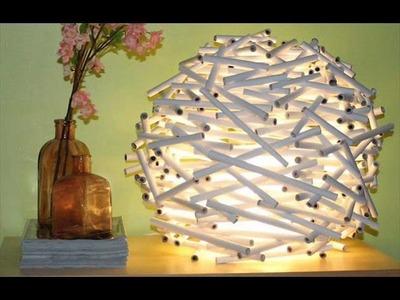Reciclado Lampara de papel.