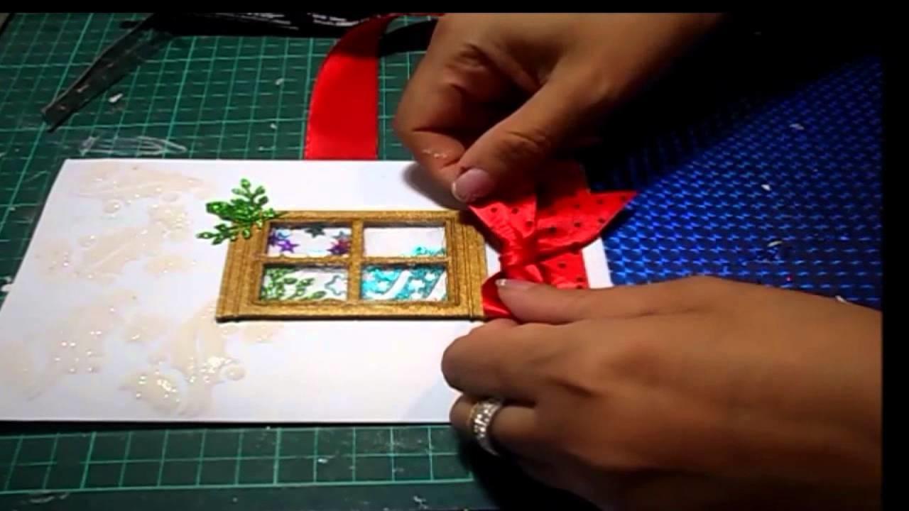 Tarjeta con detalles en gesso. card with sheets of gesso