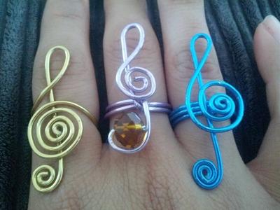 Como hacer Anillo De alambre en ''Honor a la musica''