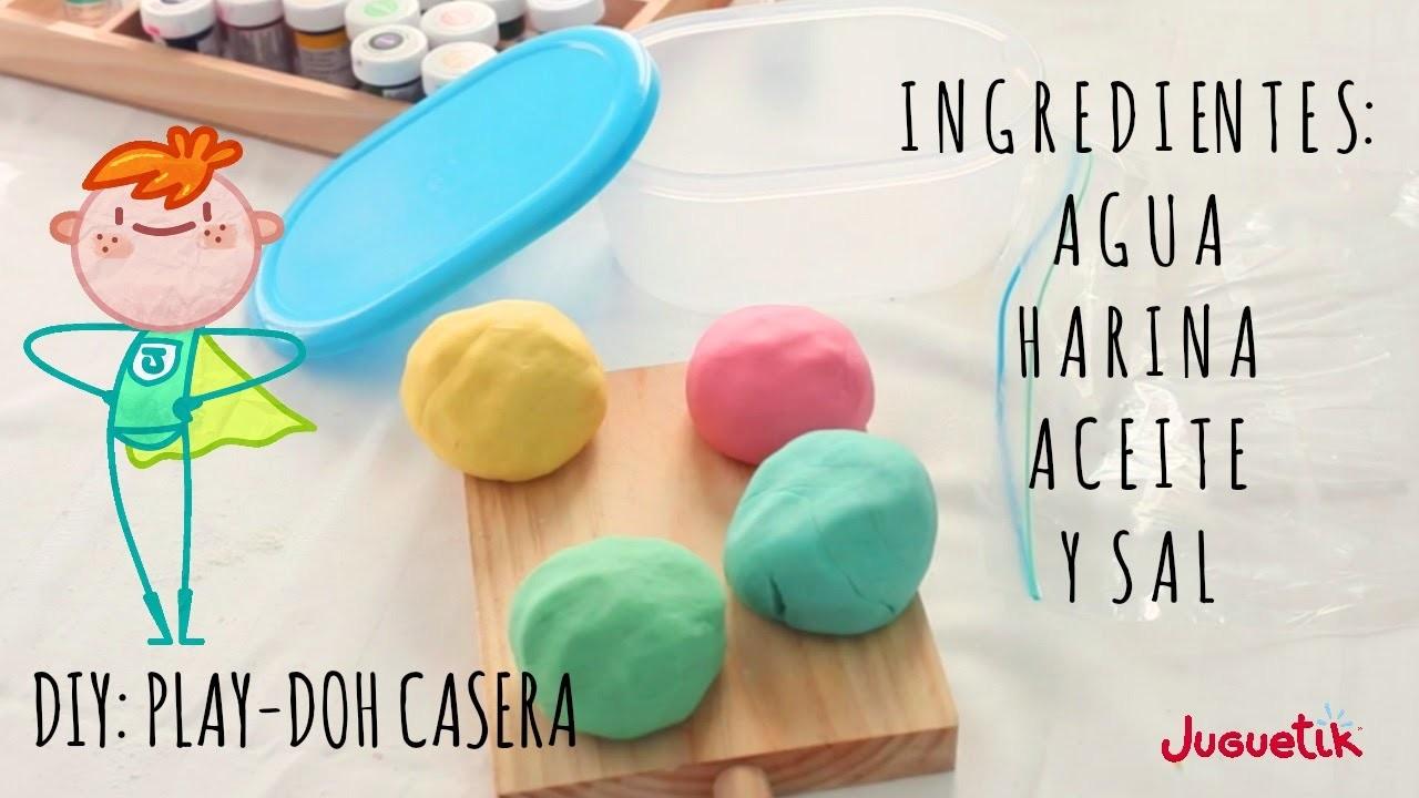 Cómo hacer plastilina Play-Doh casera - No tóxica
