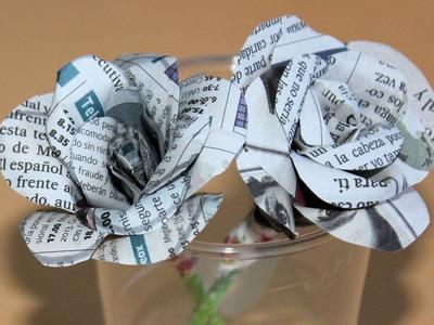 Cómo hacer rosas de papel para regalar