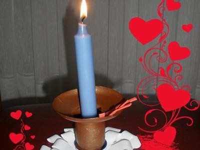 Como hacer un candelabro, portavelas, centro de mesa DIY