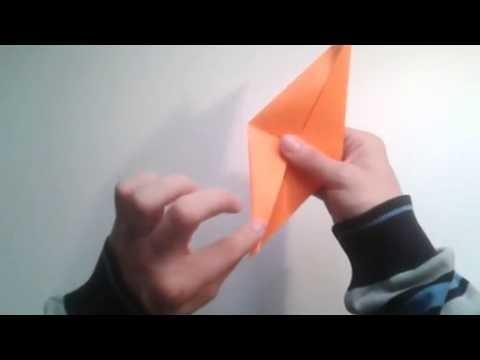 Como hacer un cuervo de papel sencillo  [Origami - Papiroflexia]
