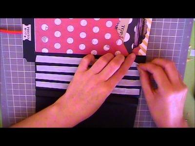 Como hacer una encuadernación acordeón con cintas vistas, parte I