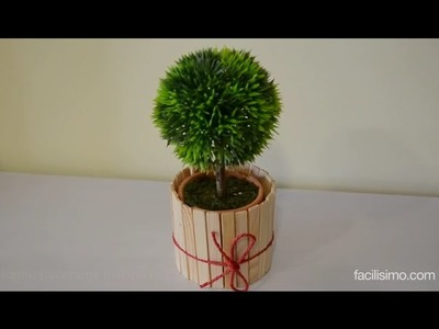 Cómo hacer una maceta con pinzas de tender | facilisimo.com