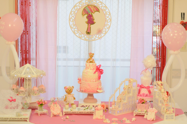 Como hacer una torta y souvenirs dulces - Baby Shower Nena - Mirta Cao