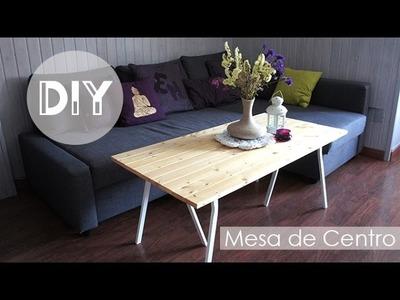 DiY Decoración - Mesa de centro de madera