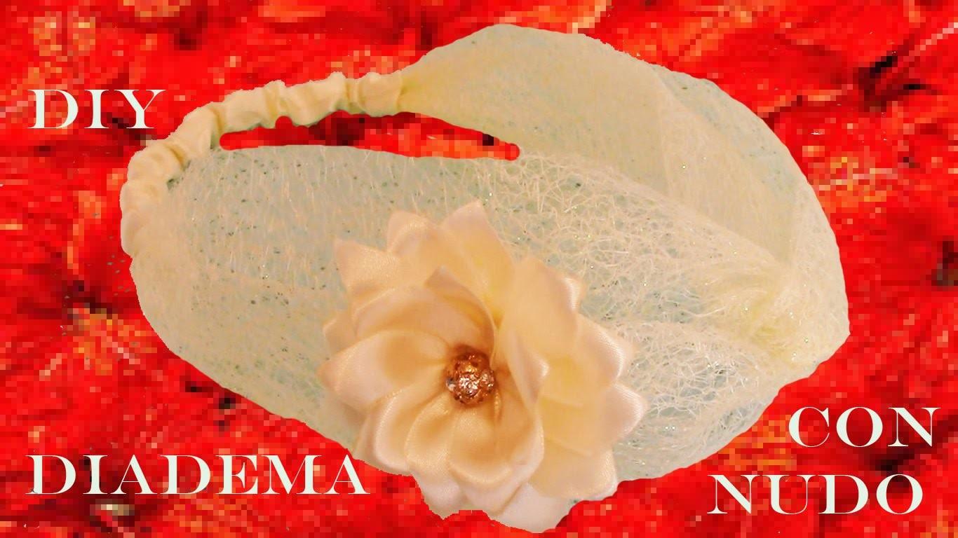 DIY Diademas en cintas de organza -  headbands knots ribbons and flowers in organza and satin