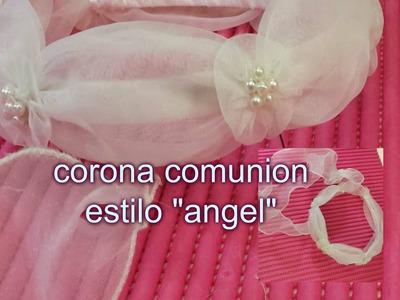 DIY: flor para corona de comunion estilo angel