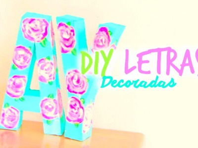 DIY Letras Decoradas