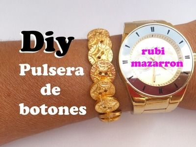 Diy  Pulsera con botones