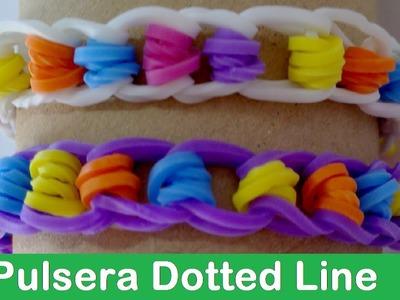 DIY Pulsera de gomitas Dotted Line - Rainbow Loom en Español
