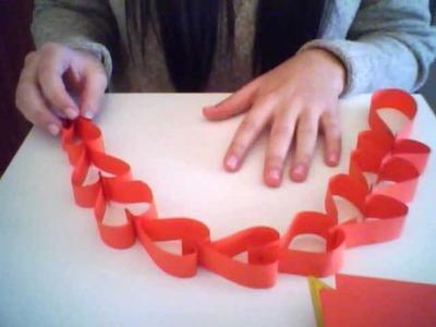 Guirnalda de corazones con papel
