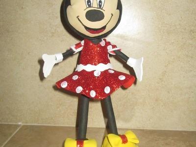 Hecho En Casa: Como Hacer Fofucha Minnie Mouse (Goma Eva, Foami)