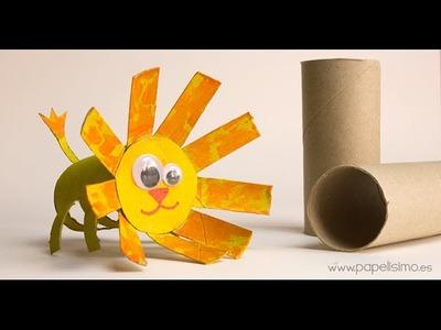 León: Manualidades con rollos papel higiénico