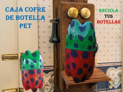 MANUALIDADES - Como hacer un cofre con botellas plásticas recicladas - RECICLAJE