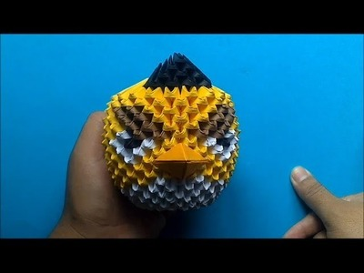 Origami 3D Angry birds (Amarillo)